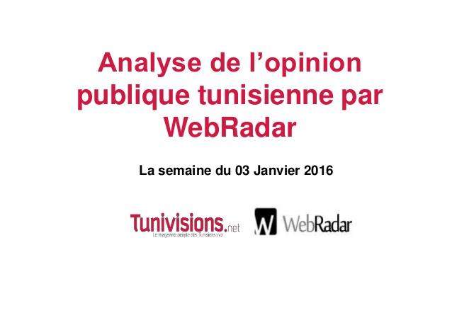 Baromètre WebRadar de la semaine du 03 Janvier 2016 par WebRadar