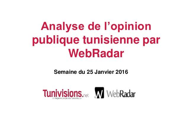 Baromètre WebRadar de la semaine du 15 Janvier 2016
