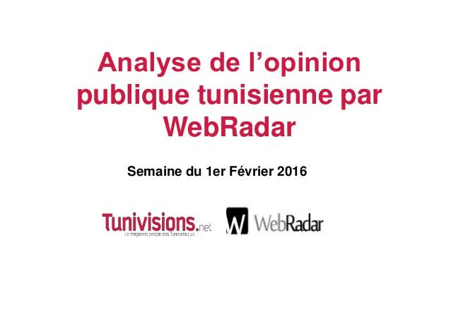 Baromètre WebRadar de la semaine du 1er Février 2016